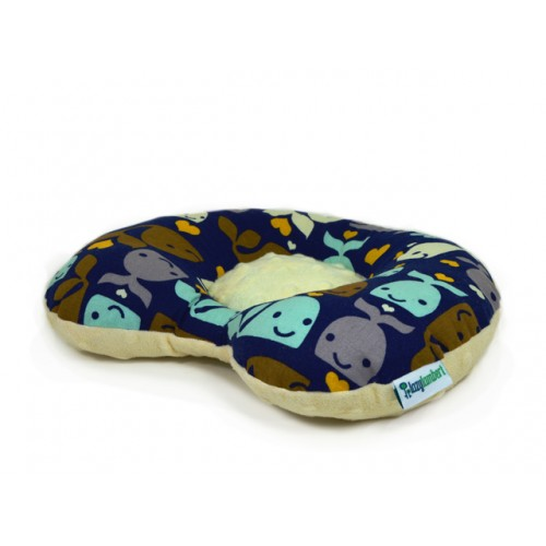 Whales And Hearts Baby Flat Head Pillow